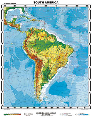 South America Wall Map Wenchow Mexico Maps South America